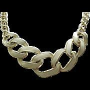 Pretty Cream Enamel & Goldtone Necklace - Monet