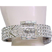 Stunning ORA Rhinestone Buckle Bracelet
