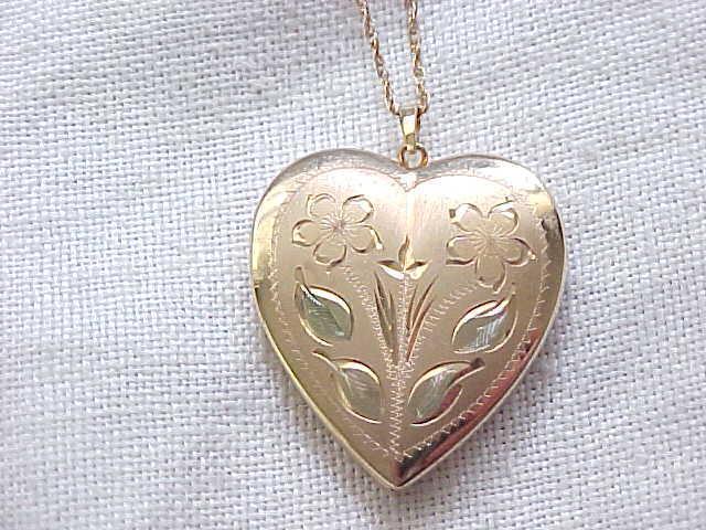 02 - Gold Filled Locket Necklace - Matches Sweetheart Expansion Bracelet