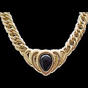 03 - Napier Goldtone Necklace with Black Center