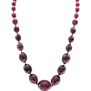 Fabulous Cherry Amber Necklace - Large Center Beads