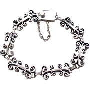 Lovely Sterling Silver Bracelet - Taxco - Eagle 3 Mark