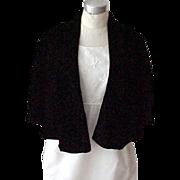Black Velvet Short Cape - Medium/Large