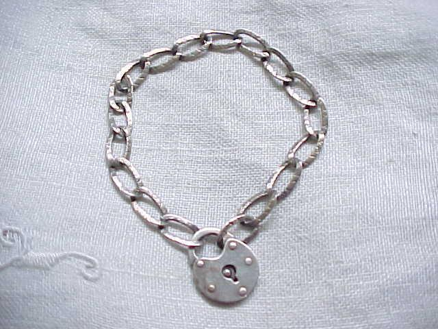 Beautiful Sterling Charm Bracelet with Lock Closure