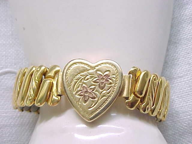 01 - Lovely Sweetheart Expansion Bracelet - Yellow Gold Filled, Rose Gold