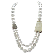 Cool Kunio Matsumoto Long Asymmetrical Necklace Trifari