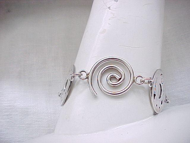 Sterling Bracelet - Artistic Discs - Very Cool