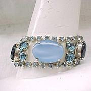 Stunning Rhinestone Bracelet - Shades of Blue