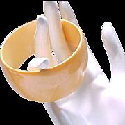 Chunky Butterscotch Bakelite Bangle Bracelet
