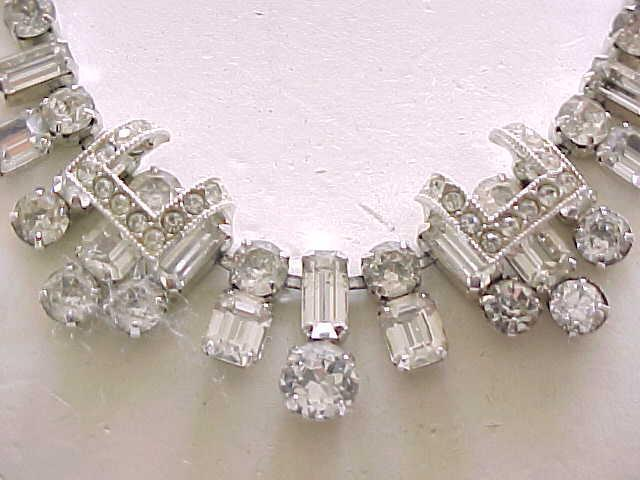 Superb Eisenberg Diamante Rhinestone Necklace, Earrings - Elegant
