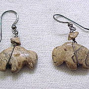 Buffalo Fetish Earrings - Pierced Earrings