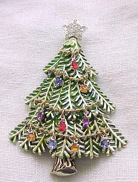 Christmas Tree Pin - Avon 2008