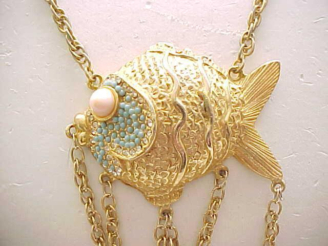 Fab Alice Caviness Fish Necklace - Must See