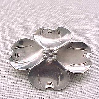 01 - Sweet Little Nye Dogwood Pin - Sterling