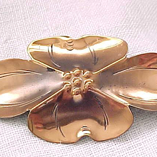 Large Copper Nye Dogwood Pin