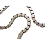 Super Chunky Sterling Silver Box Chain Necklace - 60 grams