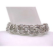 Incredible Sterling Bracelet - Wear With or Without Charms - Elco