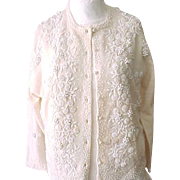 Fab Vintage Beaded Sweater - 1950's/'60's -