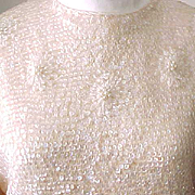 1950's/'60's Sequin Sweater with Fringe - Zipper Back