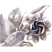 High Quality Hobe' Sterling Pin - Rose Bouquet