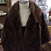 Luxurious Dark Brown Mink Stole - Small/Medium