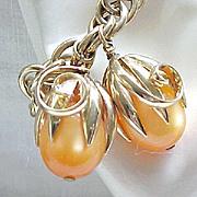 Napier Cumquat Charm Bracelet - Elusive Apricot Color