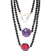 Stunning Dauplaise Necklace - 3 Strands - Must See