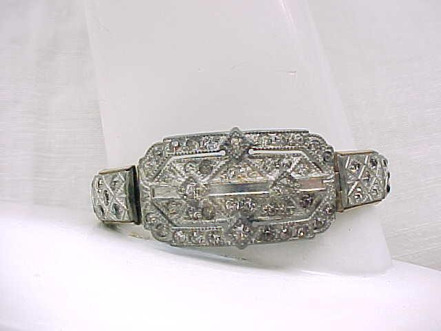 08 - Art Deco Rhinestone Bracelet