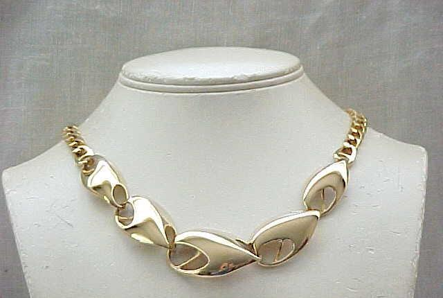 Modernist Necklace signed Kunio Matsumoto, Matching Earrings