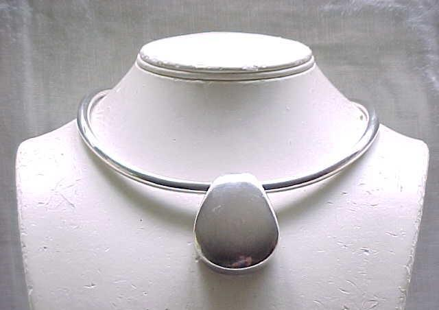 Chic Modernist Simon Sebbag Necklace - Sterling Silver