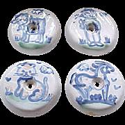 4 Door Pulls/Knobs - Hadley Pottery