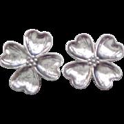 02 - Danecraft Dogwood Sterling Earrings