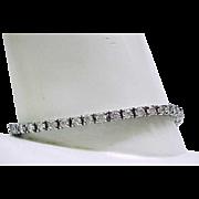 """Rhinestone Bracelet set in Sterling Silver - 8"""" Long"""