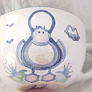 Hadley Pottery Jumbo Cup with Duck