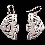 02 - Sterling Fish Earrings - Angelfish