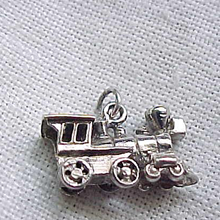 Mechanical Locomotive Charm - Sterling Silver