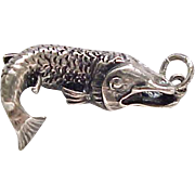 Detailed Sterling Fish Charm