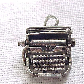 Sterling Typewriter Charm - Old Fashioned