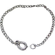 "Child's Sterling Silver Starter Charm Bracelet - 5 3/8"""
