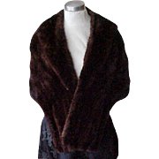 Deep Brown Mink Stole - Perlstein Fur Co. St. Louis - size Small/Medium