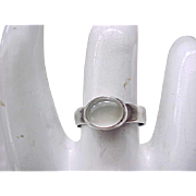 06 - Sterling Silver and Moonstone Ring - 6 1/2