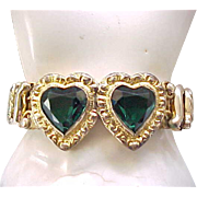 Superb Double Heart Sweetheart Expansion Bracelet - Carmen