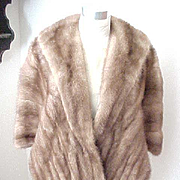 Beautiful Mink Stole Jordan Marsh - Honey Brown - Size Medium