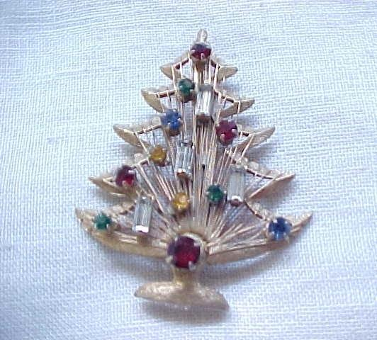 12 - Christmas Tree Candle Tree Pin