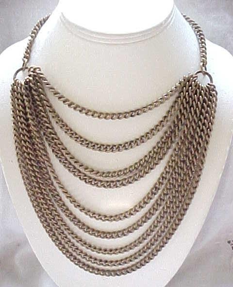 12 - Simply Stunning 9 Chain Bib Necklace