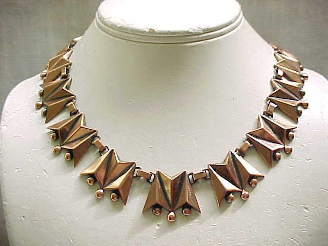 Renoir Copper Necklace and Earrings - Superb Design