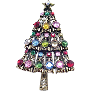 Hollycraft Christmas Tree Pin - Multi Color
