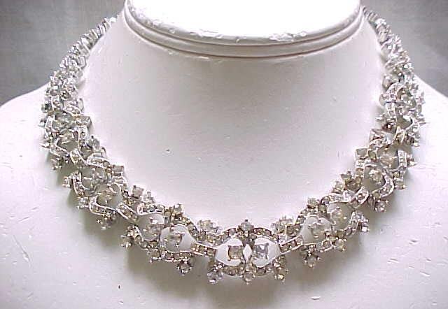 02 - Lovely Napier Rhinestone Necklace - Evening Wear and Bridal