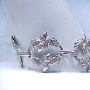 Early Danecraft Sterling Silver Acorn Bracelet