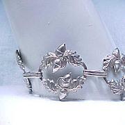 Early Danecraft Sterling Silver Acorn Bracelet